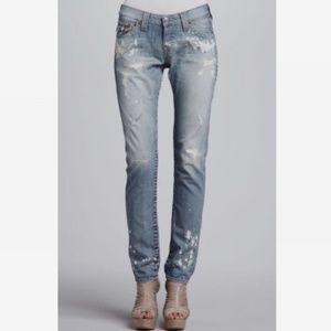 True Religion Cameron Paint Destruct Jeans *read*